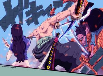 Zoro vs Hyouzou by suisidado