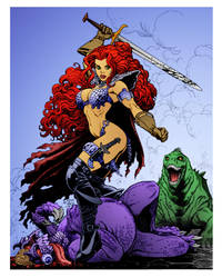 Red Sonja Beasts by Arthur Adams by DrDoom1081