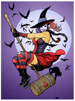 Harley Witch by Frank Cho by DrDoom1081