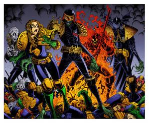 The Dark Judges by Arthur Adams by DrDoom1081