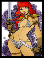 Red Sonja v2 by Bruce Timm by DrDoom1081