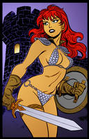 Red Sonja Dark Tower by Bruce Timm by DrDoom1081