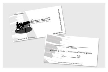 Business Cards - Piano Teacher by chorvath8