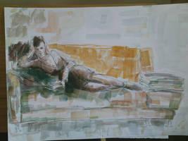 Acrylic - Klavdija by Luka87