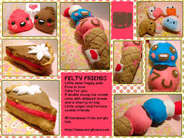 Felty Friends by tedsie