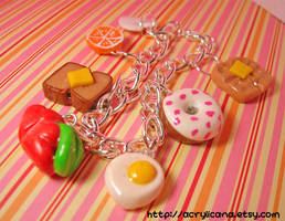 Breakfast Time Charm Bracelet by tedsie