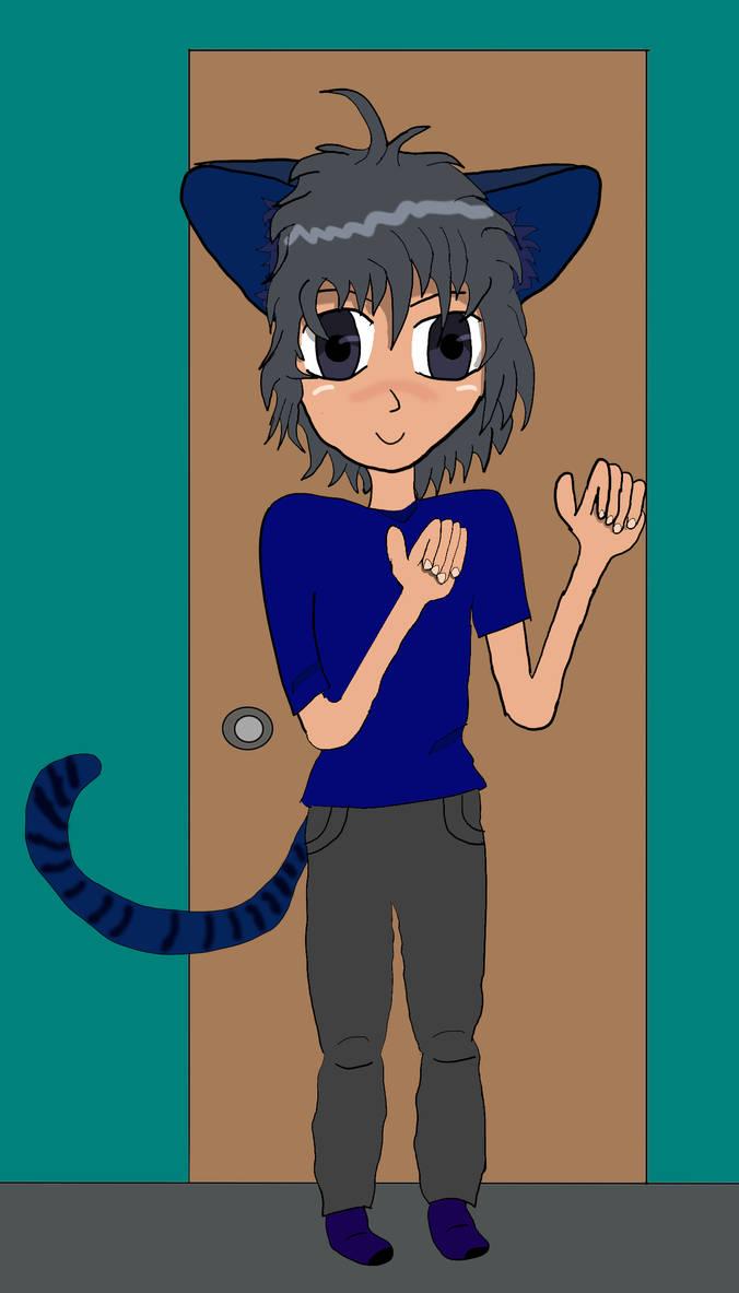 Keith as a catboy by ZeroKelvinKeyboard