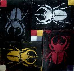 Stag Beetle Print by SheltieLuv
