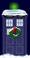 Christmas Tardis by orca498