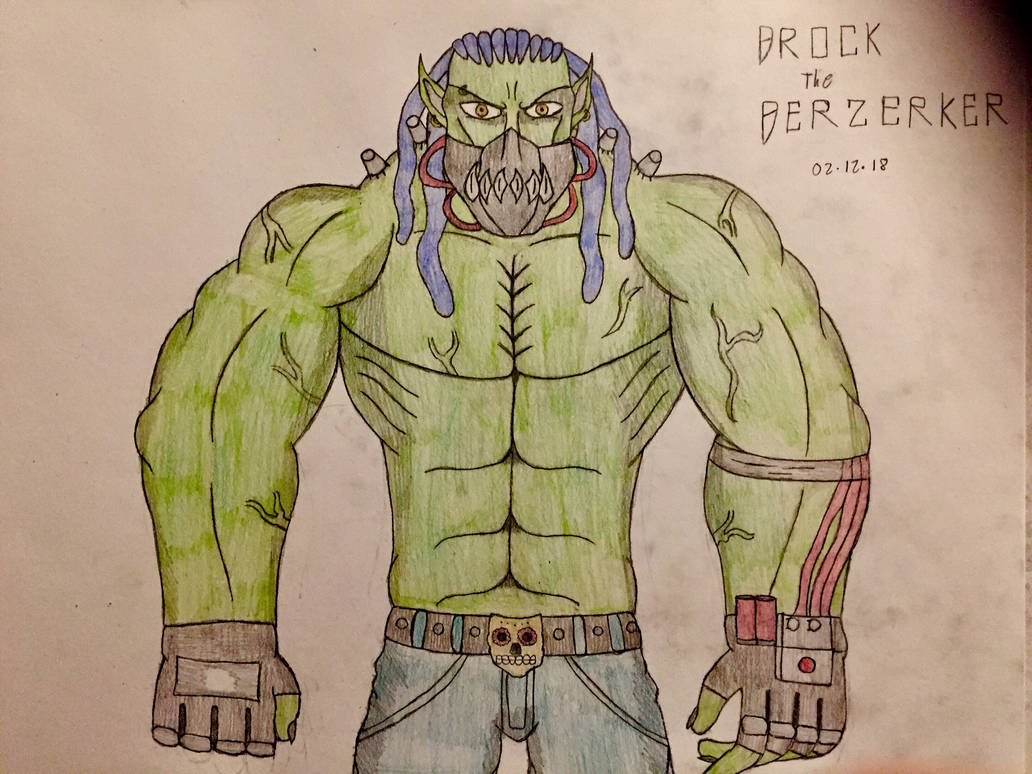 Brock the Berzerker (Upgrade Design) by AGuynamedJdogg