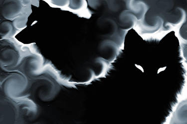 Shadow Wolves By Aether Lupus by Kreaya