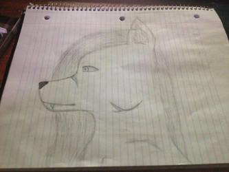 White scard wolf by Kreaya