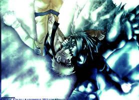 SasuNaru- Fight Underwater by inkscripter
