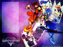 KH Wallpaper: Sora and Riku by inkscripter