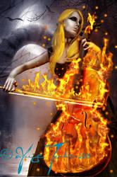 Cello Ablaze by celloismistic