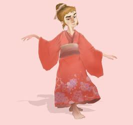 Lady in kimono by CodeDoudou