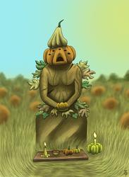 The Pumpkin Goddess by Laestr