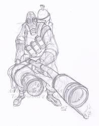 TF2 Pyro -sketch- by birdofyore