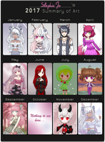 My 2017 Art Summary! by Stephie-Jo