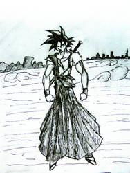 GOKU samurai style by PlAbOnDRAGON