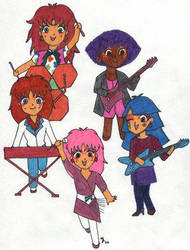 SD Jem and the Holograms by jemaholics