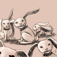 Evil Bunnies by Kelesaii