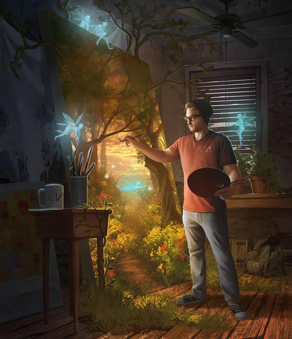 In the Studio by Huyen-n00b