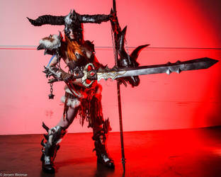 Diablo 3 Barbarian at Dreamhack by envoysoldiercosplay