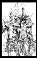 Cowboy Ghost Rider and Spawn by JasonMetcalf