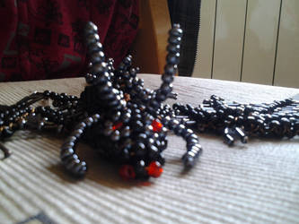 Black dragon (big) made of pearls2 by SzEszter96