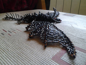 Black dragon (big) made of pearls4 by SzEszter96