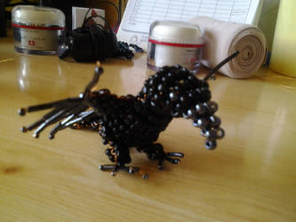 Baby crow made of pearls3 by SzEszter96