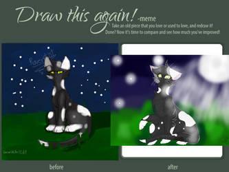 Draw It Again Meme My Warrior Oc Ravendust By Warriorcatsfan4life9