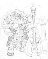 pandaren warrior by Jason-Troxell