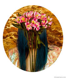 Motherland Chronicles 3 - Self Portrait w Flowers by zemotion