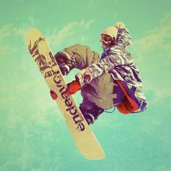 Snowboarder by jaggedpixel