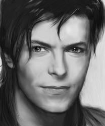 David Bowie -realistic sorta- by Liko