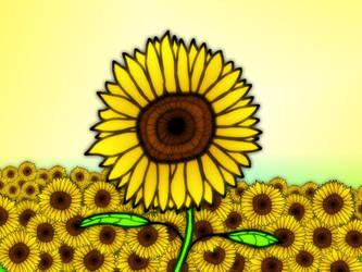 Sun Flowers by Sparkaan