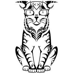 random tribal cat by 5kTROLL30o