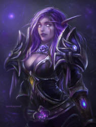 Night elf by TamikaProud