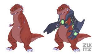 T Rex 3 by Zukitz