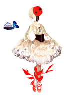 #6 Anime Hell ballerina Render by Butterfly-Blue-B
