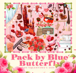 Pack by Blue Butterfly PNG 50 Valentine's Day by Butterfly-Blue-B