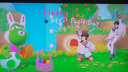 Happy Easter + April Fools Day by GoldRaibowMario2