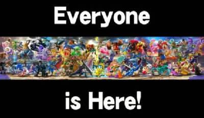 Everyone is Here! | SSBU/S Artwork by GoldRaibowMario2