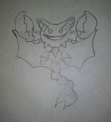 Gliscor Sketch by GoldRaibowMario2