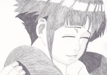 hinata hyuga drawing by me by naruXhinata