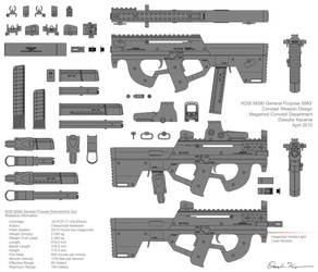 M290 Submachine Gun Concept by Nyandgate