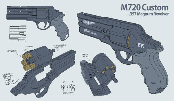 M720 Revolver Design Multiview by Nyandgate