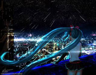 Defragmented City - Miku Hatsune by PovedaM